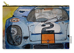 Carry-all Pouch featuring the painting Gulf Porsche by Anna Ruzsan