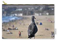Gull Watching Beach Visitors Carry-all Pouch by Susan Wiedmann