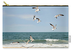 Gulls A Dance'n Carry-all Pouch by Diana Angstadt