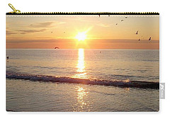 Gulls Dance In The Warmth Of The New Day Carry-all Pouch