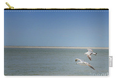 Carry-all Pouch featuring the photograph Gulls In Flight by Erika Weber