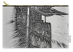 Gulls In Pencil Effect Carry-all Pouch by Linsey Williams