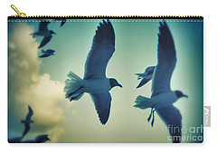 Gulls Carry-all Pouch by Paulo Guimaraes