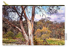 Carry-all Pouch featuring the photograph Gum Tree By The River by Wallaroo Images