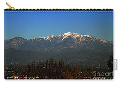 Carry-all Pouch featuring the photograph Hacienda Heights And Industry Overlook by Clayton Bruster