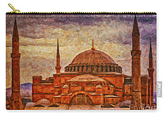 Hagia Sophia Digital Painting Carry-all Pouch by Antony McAulay
