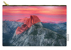 Carry-all Pouch featuring the painting Half Dome Sunset From Glacier Point by John Haldane