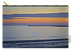 Half Moon Bay Under The Moon At Sunset Carry-all Pouch