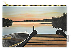 Carry-all Pouch featuring the painting Haliburton Dock by Kenneth M  Kirsch