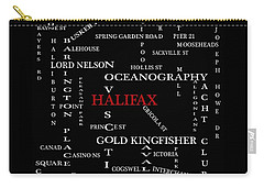 Halifax Nova Scotia Landmarks And Streets Carry-all Pouch