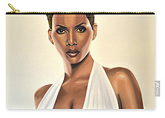 Halle Berry Painting Carry-all Pouch by Paul Meijering