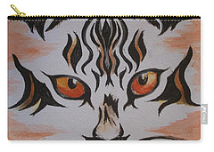 Carry-all Pouch featuring the painting Halloween Wild Cat by Teresa White