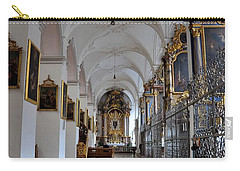 Carry-all Pouch featuring the photograph Hallway Of A Church Munich Germany by Imran Ahmed