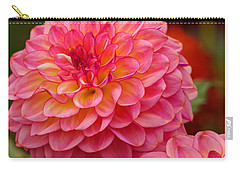 Carry-all Pouch featuring the photograph Hamari Rose - Dahlia by Jordan Blackstone