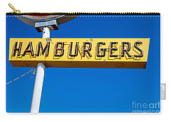 Hamburgers Old Neon Sign Carry-all Pouch