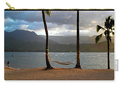 Hammock At Hanalei Bay Carry-all Pouch by James Eddy