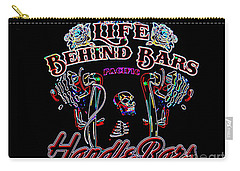 Handle Bars In Neon Carry-all Pouch