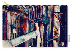 Carry-all Pouch featuring the photograph Handles And The Pitchfork by Lesa Fine