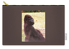 Carry-all Pouch featuring the photograph Handsome Gorilla by Belinda Lee