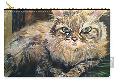 Carry-all Pouch featuring the painting Handsome Toby by Belinda Low
