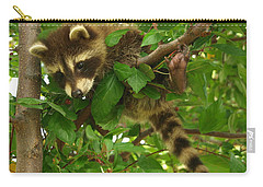 Carry-all Pouch featuring the photograph Hang In There by James Peterson