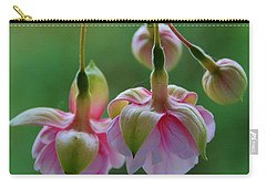 Carry-all Pouch featuring the photograph Hanging Fuschia by Debra Martz