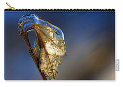 Carry-all Pouch featuring the photograph The Last Leaf  by Debbie Oppermann