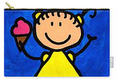 Happi Arte 3 - Little Girl Ice Cream Cone Art Carry-all Pouch