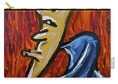 Carry-all Pouch featuring the painting Happiness 12-001 by Mario Perron