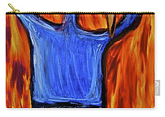 Carry-all Pouch featuring the painting Happiness 12-002 by Mario Perron