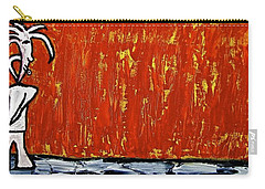 Carry-all Pouch featuring the painting Happiness 12-007 by Mario Perron