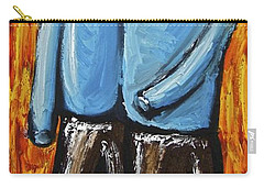 Carry-all Pouch featuring the painting Happiness 12-008 by Mario Perron