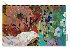 Carry-all Pouch featuring the painting Happiness by Robin Maria Pedrero
