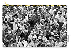 Happy Baseball Fans In The Bleachers At Yankee Stadium. Carry-all Pouch