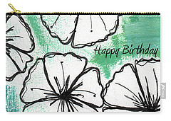Happy Birthday- Floral Birthday Card Carry-all Pouch