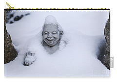 Happy Buddha In Snow Carry-all Pouch