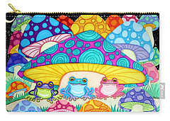 Happy Frogs In The Starlight  Carry-all Pouch by Nick Gustafson