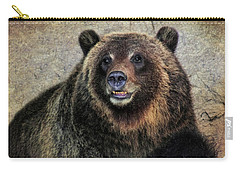Happy Grizzly Bear Carry-all Pouch