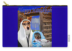 Carry-all Pouch featuring the digital art Happy Hanukkah -1 by Kathy Tarochione