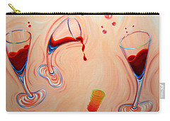 Carry-all Pouch featuring the painting Happy Hour by Sandi Whetzel