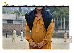 Carry-all Pouch featuring the photograph Happy Laughing Pathan Boy In Swat Valley Pakistan by Imran Ahmed