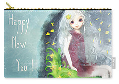 Carry-all Pouch featuring the digital art Happy New You by Barbara Orenya