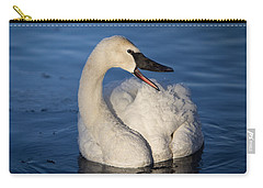 Carry-all Pouch featuring the photograph Happy Swan by Patti Deters