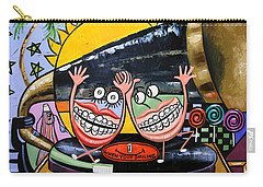 Carry-all Pouch featuring the painting Happy Teeth When Your Smiling by Anthony Falbo