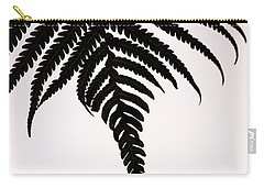 Carry-all Pouch featuring the photograph Hapu'u Frond Leaf Silhouette by Lehua Pekelo-Stearns