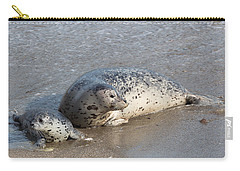Harbor Seals In The Surf Carry-all Pouch