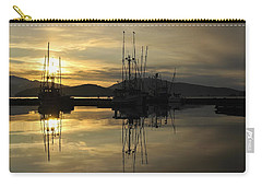 Carry-all Pouch featuring the photograph Harbor Sunset by Cathy Mahnke