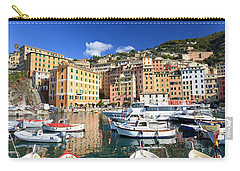 Carry-all Pouch featuring the photograph Harbor With Fishing Boats by Antonio Scarpi