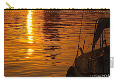 Carry-all Pouch featuring the photograph Harbour Sunset by Clare Bevan