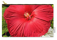 Carry-all Pouch featuring the photograph Hardy Hibiscus by Sue Smith